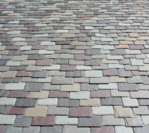 multi-colored slate design