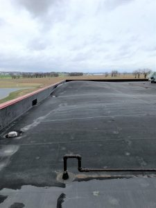 rubber roof damage